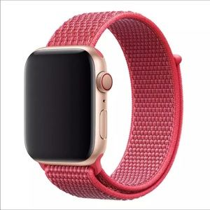 Light Red Replacement apple watch band sport loop